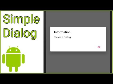 Simple Dialog with 1 Button - Android Studio Tutorial