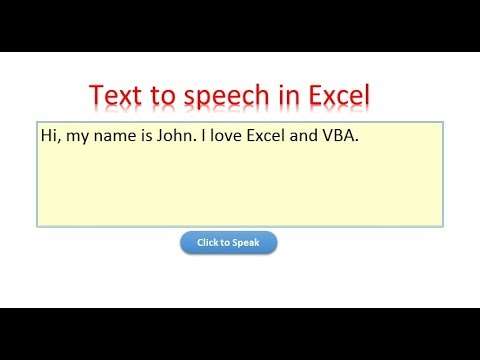 Excel Tip: Text to Speech in Excel