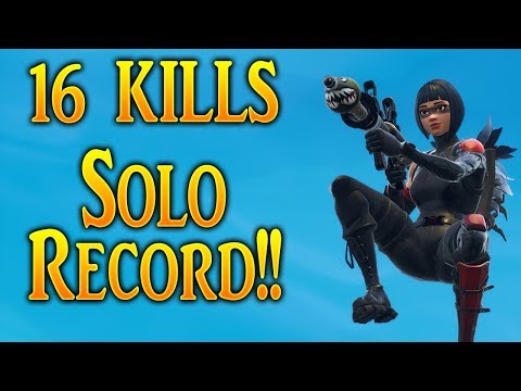 Fortnite - 16 Kill Solo Record!! Aggressive Play with Nasty Snipes!
