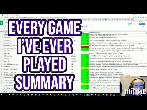 All Games I've Ever Played (Mithrie's VLOG #23)