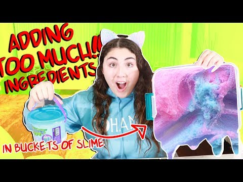 Download ADDING TOO MUCH INGREDIENTS IN BUCKETS OF STORE BOUGHT SLIMES