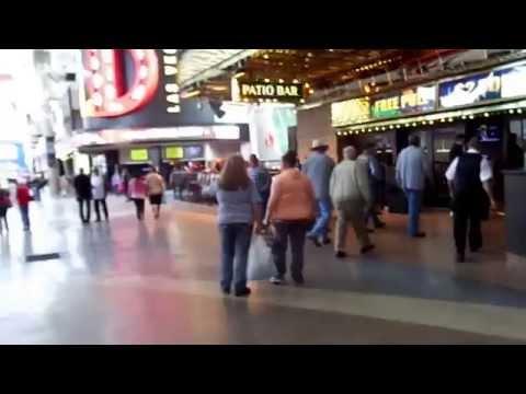 Las Vegas Fremont Street Experience,Downtown Las Vegas Strip  Morning Walk