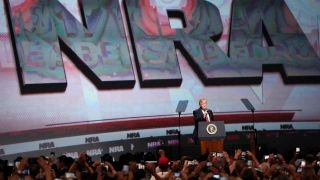 President Trump makes history with NRA address