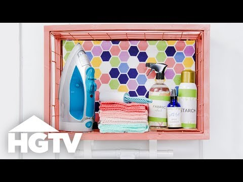 DIY Ironing Essentials Station - Easy Does It - HGTV