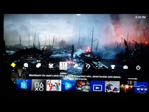 HOW TO SET A SCREENSHOT AS YOUR BACKGROUND ON PS4 - UPDATE FILE 4.50