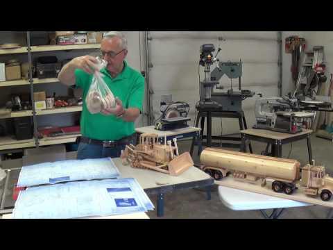 Video #4 Wooden Toy Replicas (High Track Dozer)