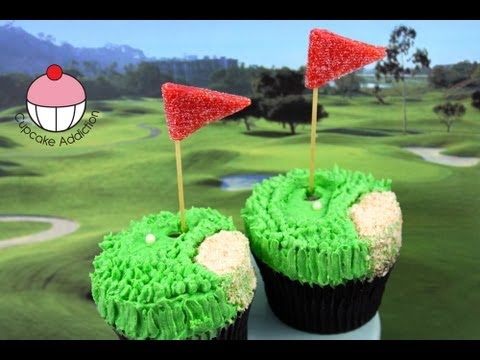 Golf Cupcakes! Make Golf Pro Cupcakes for Dad - A Cupcake Addiction How To Tutorial