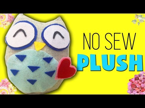 DIY Sock Plushie Doll   How to make Owl Sock Plush [NO SEW]