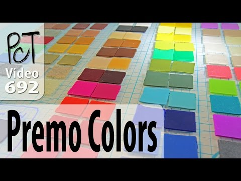 Premo Sculpey Polymer Clay Colors - Raw vs Baked