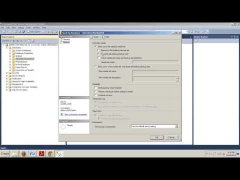 SQL Server tutorial 76: How to perform a full database backup.