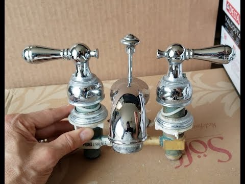 How To Tighten A Loose Delta Bathroom Sink Faucet Spout + Handles ! 5 22 18