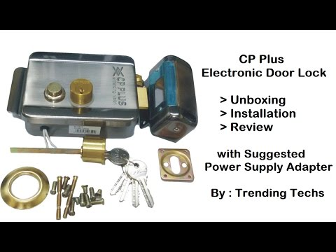 CP Plus Electronic Door Lock Unbox, Install & Review