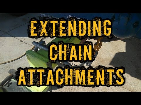 Extending hitch tow chain attachments on your 4wd