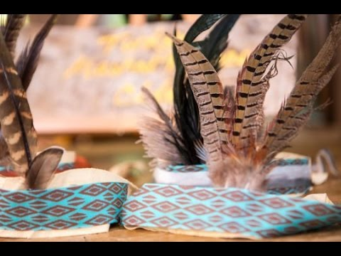 Make the Ultimate Fun Feather Headdresses and Menus for Your Thanksgiving Kids Table