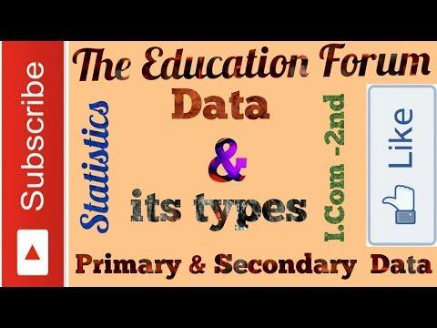 Primary data vs Secondary data Lecture-1 (Statistics) in Urdu