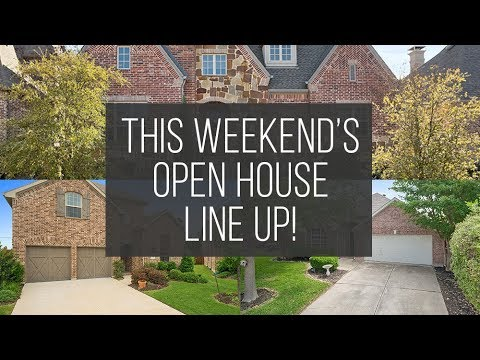 Open House Line Up: May 19th