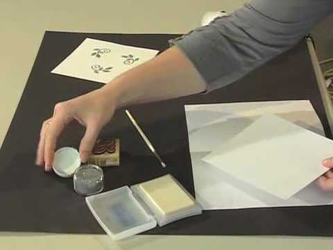 Scrapbook.TV - How to Emboss Using Rubber Stamps