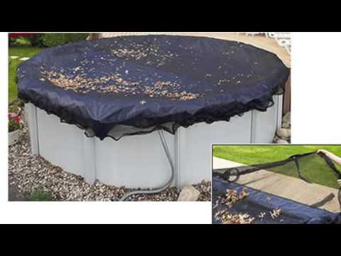 Swimline 28' Round Above Ground Swimming Pool Leaf Net Cover