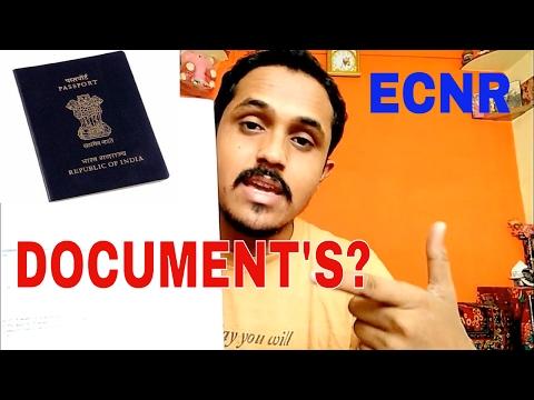 DOCUMENT'S FOR ECNR PASSPORT! HOW TO GET ECNR PASSPORT??(HINDI 2017)