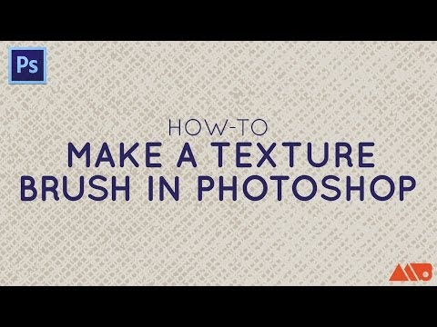 How to Make a Texture Brush in Adobe Photoshop Tutorial