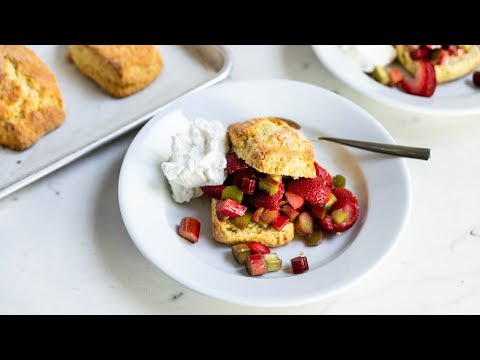 Strawberry + Rhubarb Shortcakes