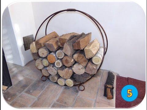 Making a fireplace log holder 2