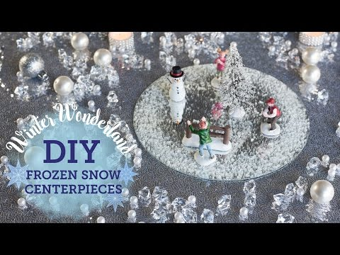 DIY Winter Wonderland: 2 Frozen Snow Centerpieces | BalsaCircle.com