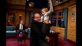 Chris Farley Crashes Sarah Jessica Parker's Interview   Late Night with Conan O'Brien