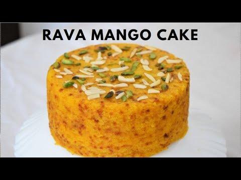 Rava Suji Semolina Mango Cooker Cake  Soft Cake  आम सूजी कुकर केक Cake For beginners-Food Connection