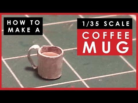 How to make a 1/35 scale model coffee mug for dioramas