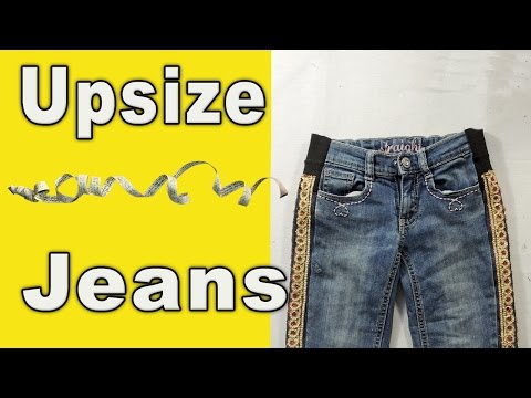 How to upsize jeans in waist and hips. Adjusting.