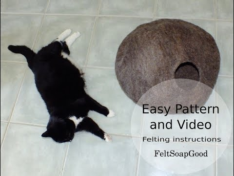 Cat Cave Making video felting tutorial - Part Two by  FeltSoapGood