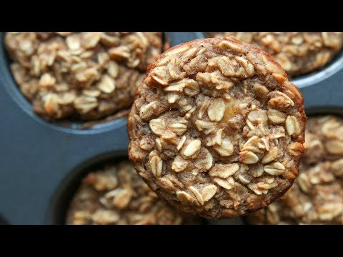 Banana Oatmeal Breakfast Muffins Recipe - HEALTHY, EASY, & GREAT FOR MEAL PREP