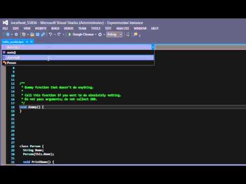 DartVS - Navigation bars and GoToDefinition