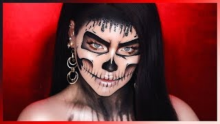 DRIPPING GLAM SKULL MAKEUP FOR HALLOWEEN!
