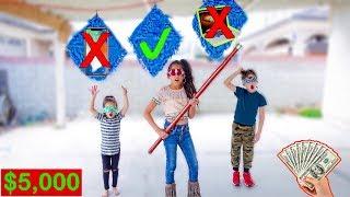 DON'T Break the Wrong MYSTERY Piñata *Winner Takes $5,000* | Familia Diamond