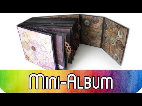 Scrapbook Mini Album aus Briefumschlägen | Album im Industrial Vintage Stil