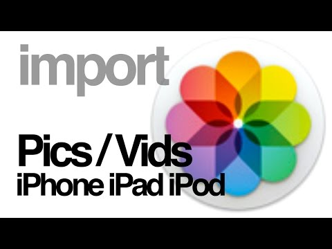 How to import pictures videos from iPhone iPad iPod to PHOTOS app mac