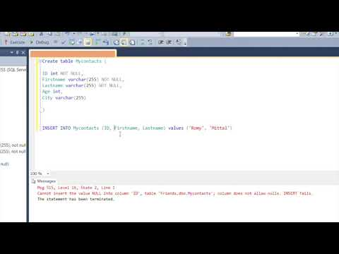 SQL Constraints - Lesson 5 - Create or Add Constraints (Primary Key, Foreign Key, Default etc.)