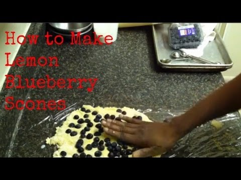 Lemon Blueberry Scones with Biscuit Mix