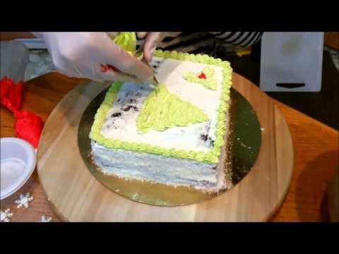 Christmas Cake Tutorial - Happy Holidays ♥