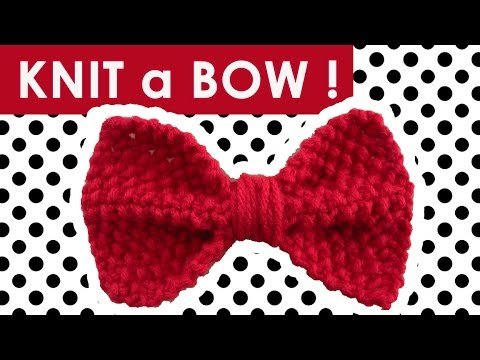 How to Knit a BOW in SEED STITCH - Easy DIY for Beginning Knitters