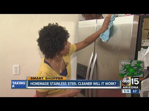 Homemade recipe for keeping stainless steel clean