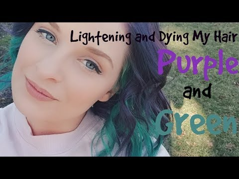 Lightening and Dying My Hair Purple and Green