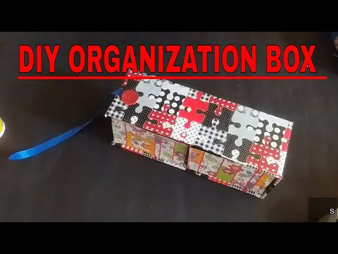 How to make a storage box from cardboard | DIY