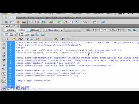 Design a Website, Adding Meta Tags