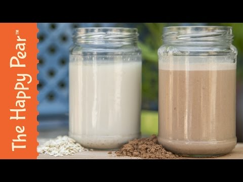 How To Make a Delicious Chocolate Milkshake with Homemade Oat Milk - The Happy Pear