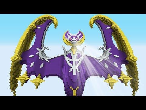 Minecraft vs Pokemon Sun/Moon    GIGA Lunala vs Solgaleo   (PvZ/Pokego Land)