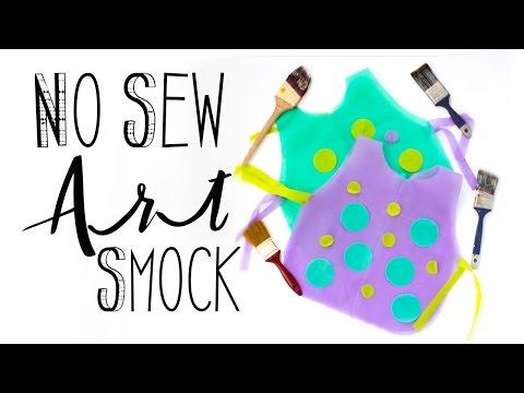 No Sew Art Smock DIY