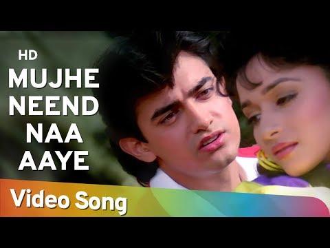 Mujhe Neend Na Aaye (HD) - Dil (1990) Song - Aamir Khan - Madhuri Dixit - 90's Romantic Song